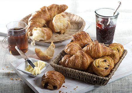 Deli Monet Croissants breakfast